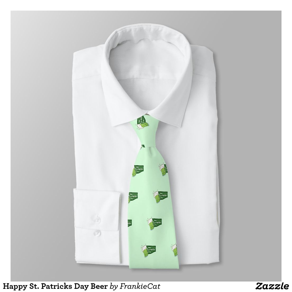 Happy St. Patricks Day Beer Neck Tie
