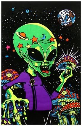 Trippy Tapestries Alien