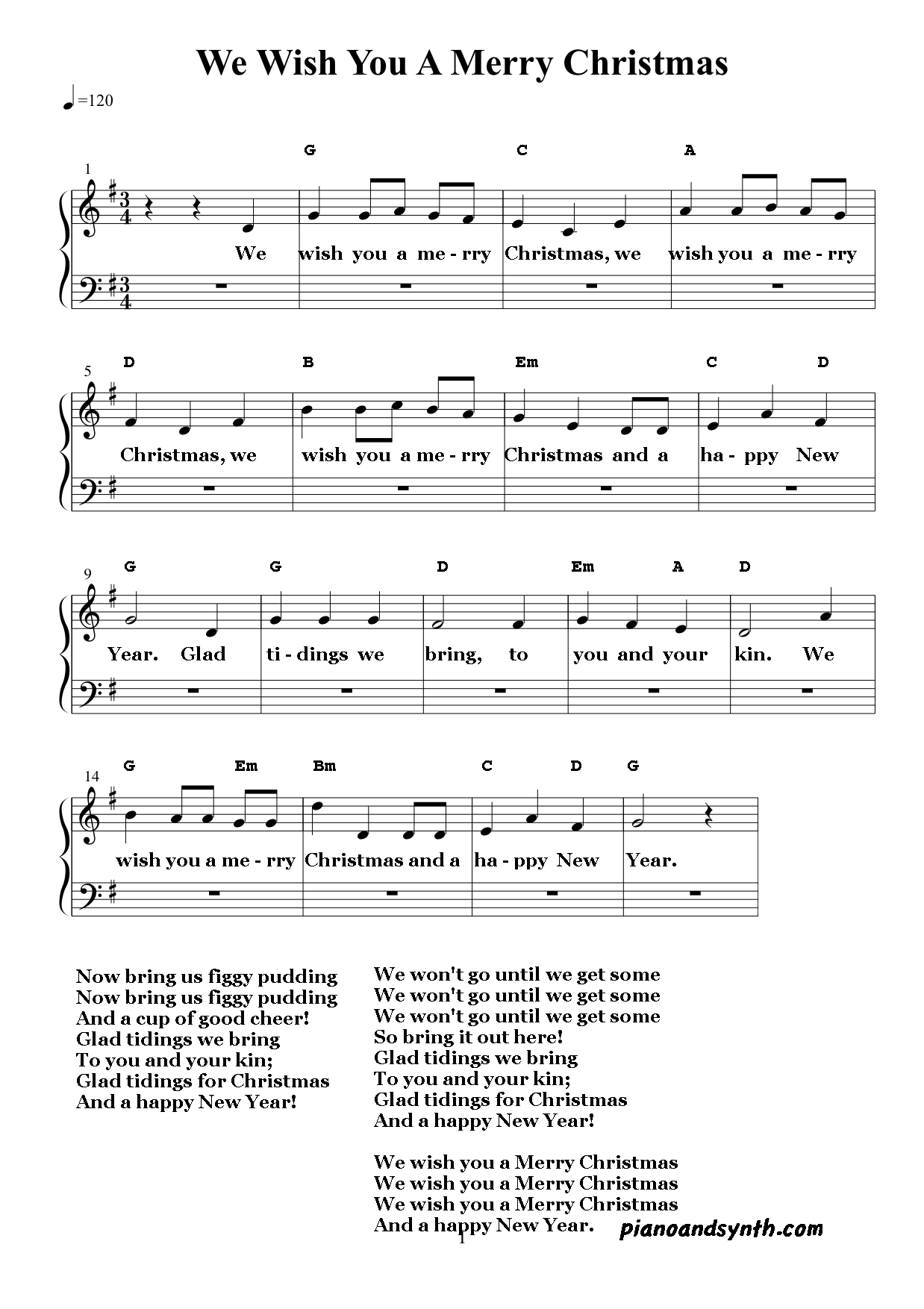 Image Result For Christmas Carols With Chords