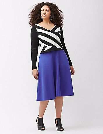 311d923a33 Ponte circle skirt   Lane Bryant Finds   Plus size skirts, Skirts ...