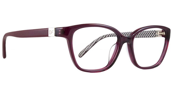 This stylish DVF frame adds some flair with a chain link pattern on ...