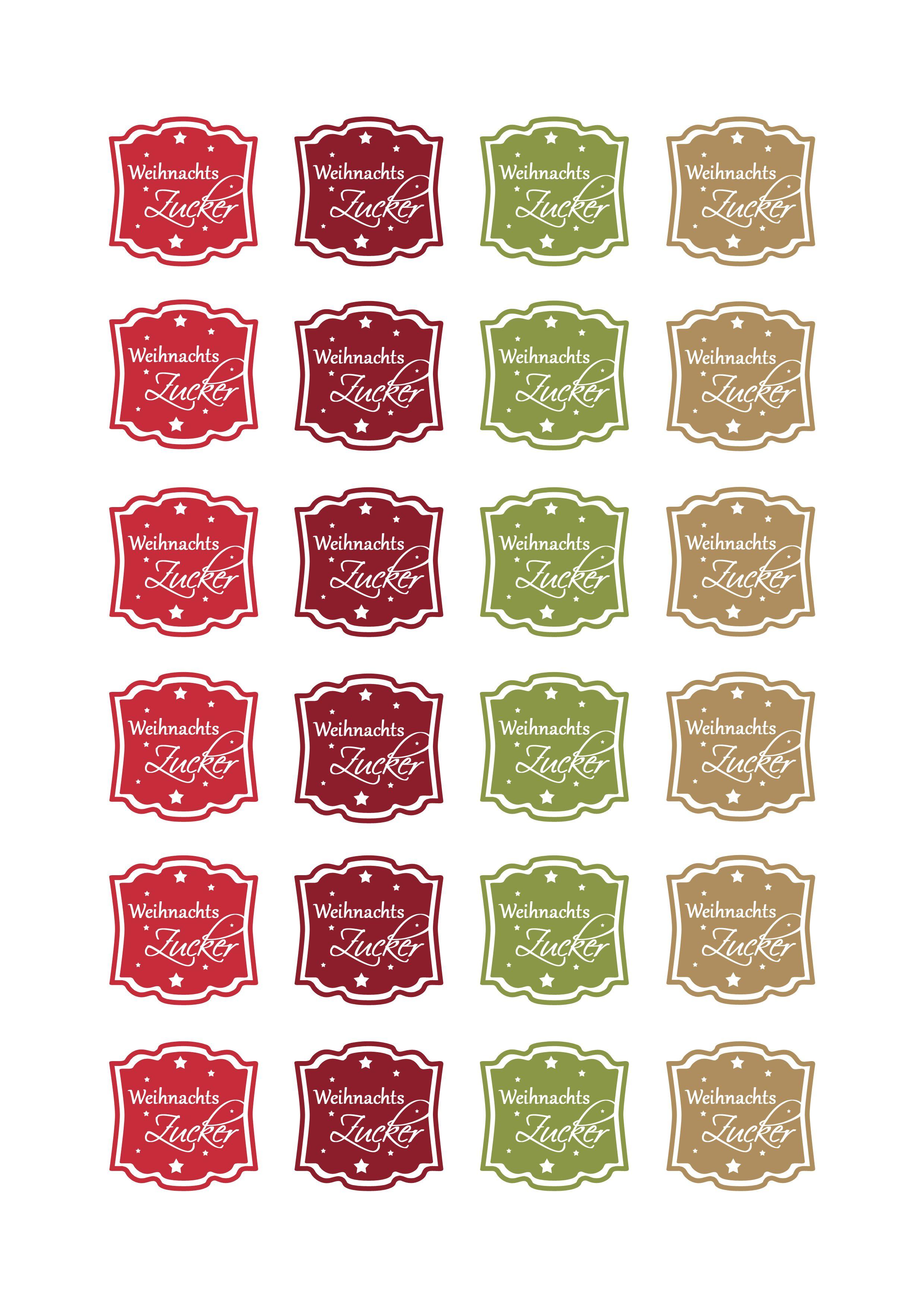 Freebie Etikett Weihnachtszucker Colorspell Printables