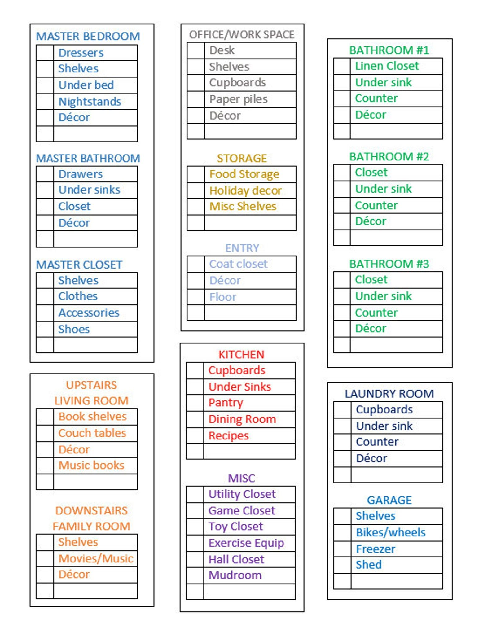 Declutter Home Clean List Organizing Instant Download With Tips And Cleaning Organization In 2020 Declutter Home Declutter Declutter Challenge