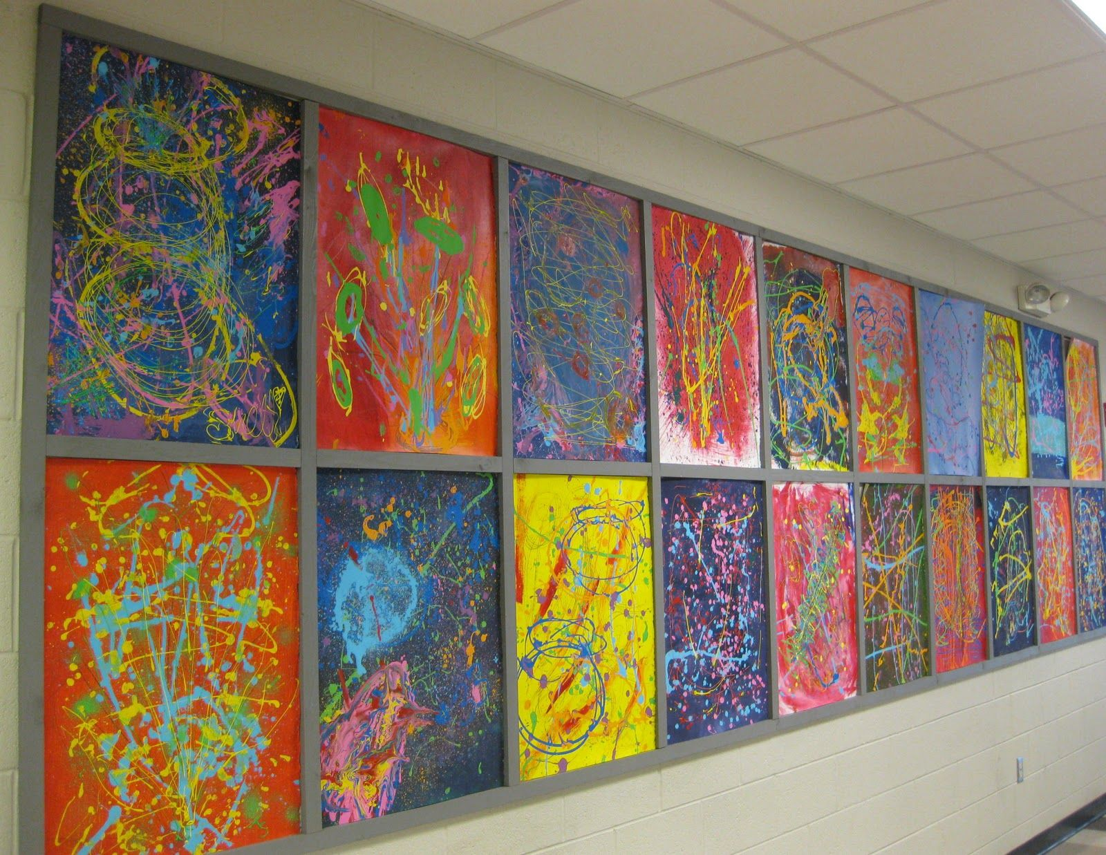 Unusual Middle School Art Activities | MNPS Chihuly Art ...