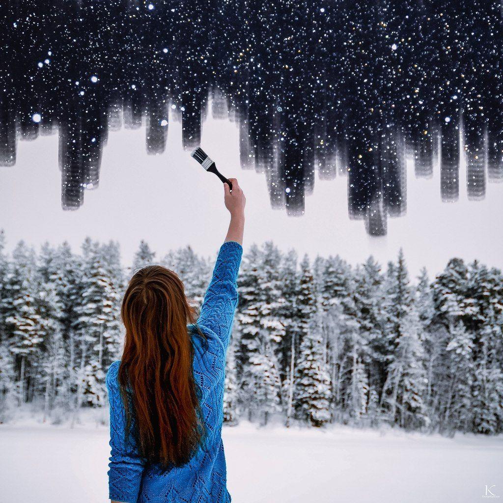 проект падающий снег на фото в инстаграм нем десятки дырочек