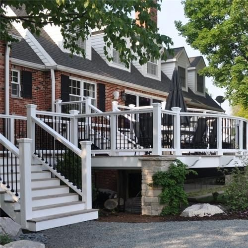 Cable Design Ideas Small Front Porch: Deck Designs And Ideas For Backyards And Front Yards