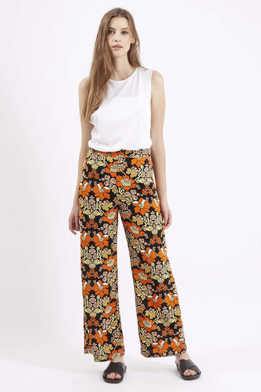 a9dd09806765 70s Floral Print Wide Leg Trousers - Topshop | TOPSHOP | Wide leg ...
