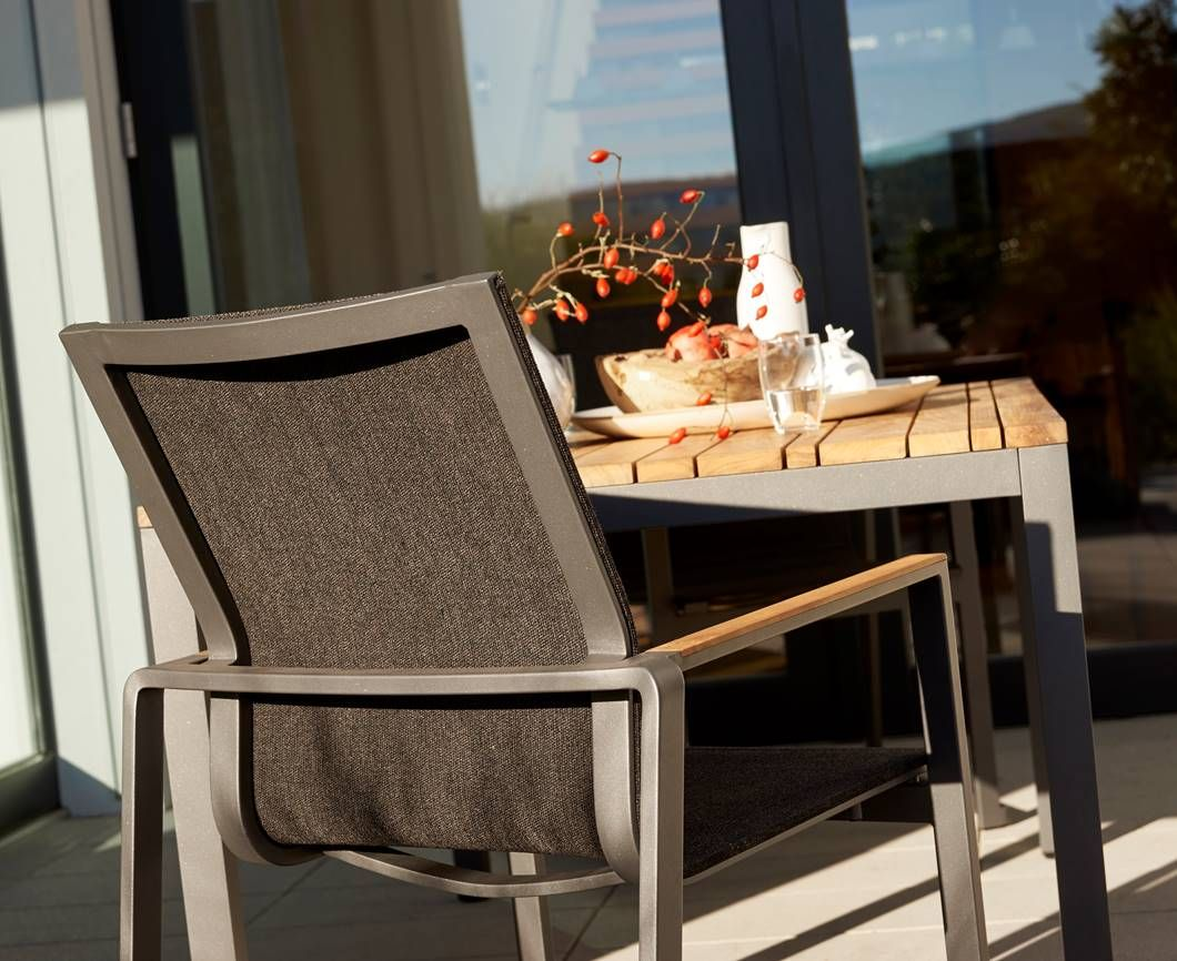 Gartenmobel Alu Teak ~ Solpuri foxx stacking chair material aluminium teak and