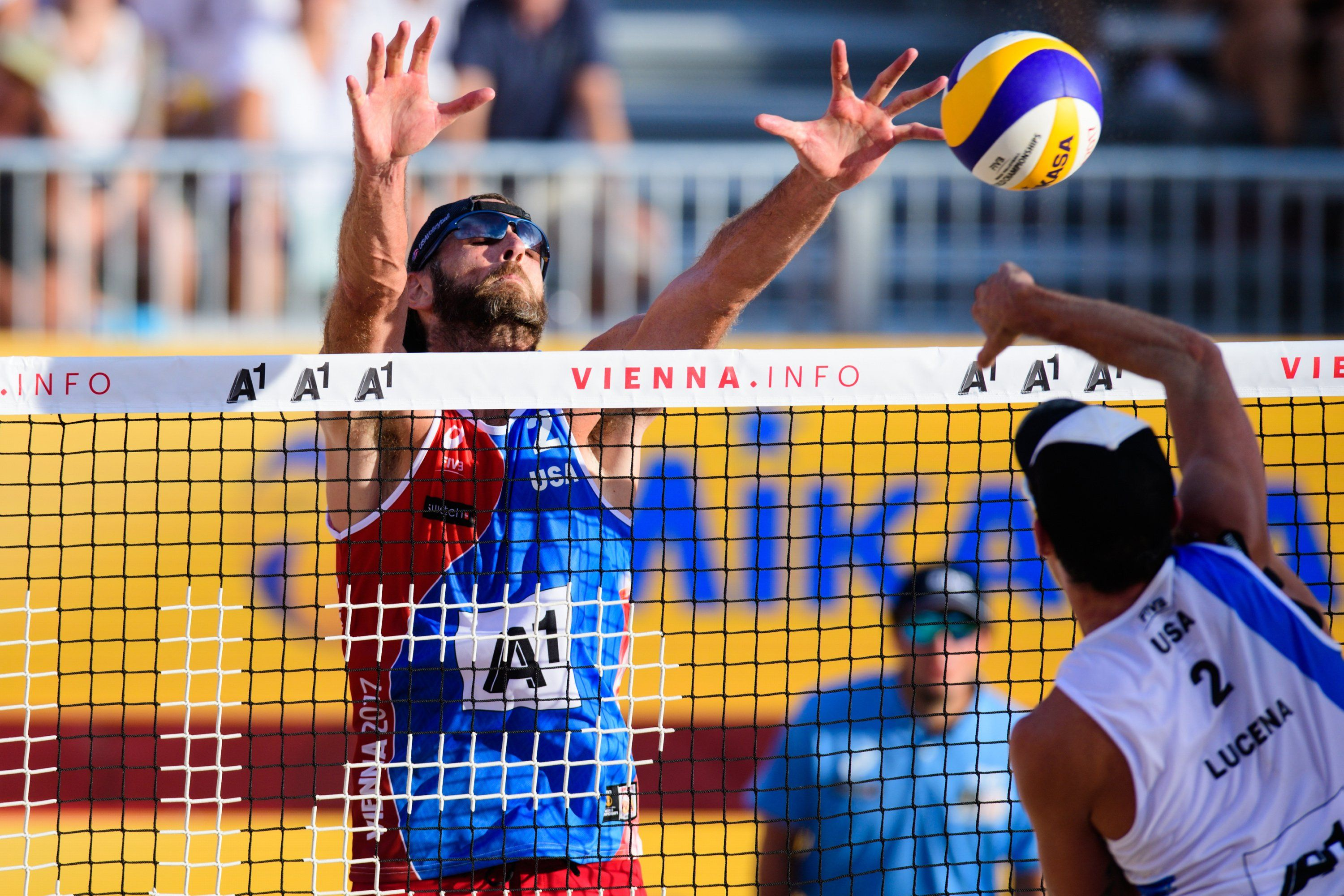 John Hyden Stays Positive After Opening Lost At Beach World Champs Volleyball Articles Beach Fivb Beach Volleyball