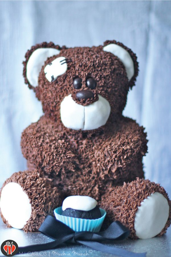 How To Make A Wilton Teddy Bear Cake In My Mind I Knew