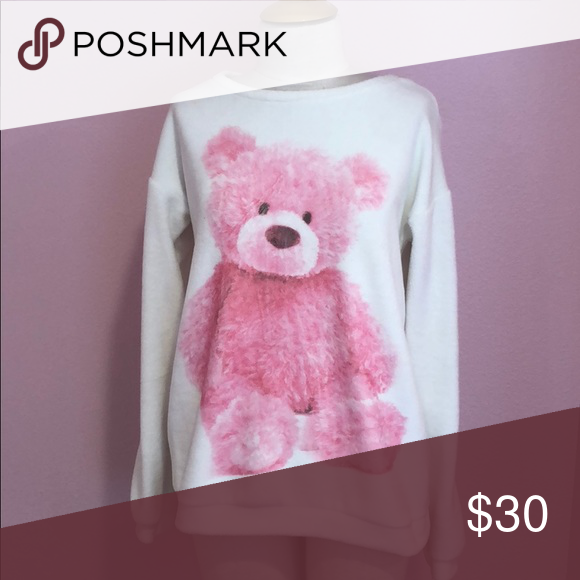 Teddy Bear Jumper fleece material on the outside with pink