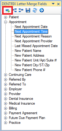 Adding Dentrix Fields To Letters In Microsoft Word Dental Office Management Microsoft Word 2010 Dentist Office