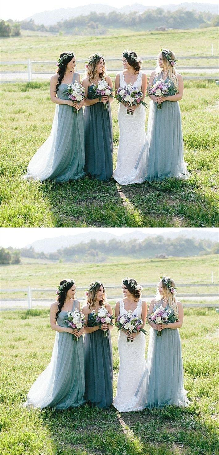 Aline one shoulder sleeveless sweep train chiffon bridesmaid dress