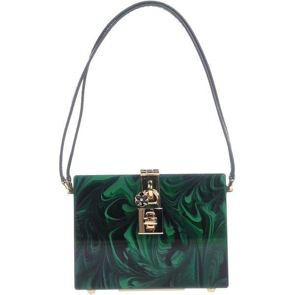 2da4903227e Dolce & Gabbana Handbag ($1,630) ❤ liked on Polyvore featuring bags,  handbags, dark green, leather handbags, dolce gabbana handbags, animal purse,  ...