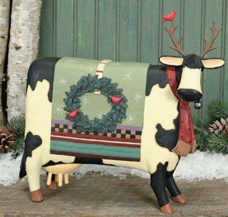 Williraye studio merry moo stletoes christmas for Amazon decoracion navidad