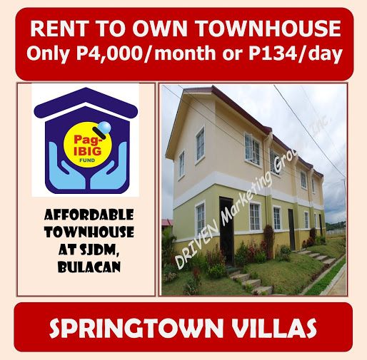 Springtown Villas Affordable Rent To Own House And Lot Near Qc Thru Pag Ibig Springtown Rent Villa