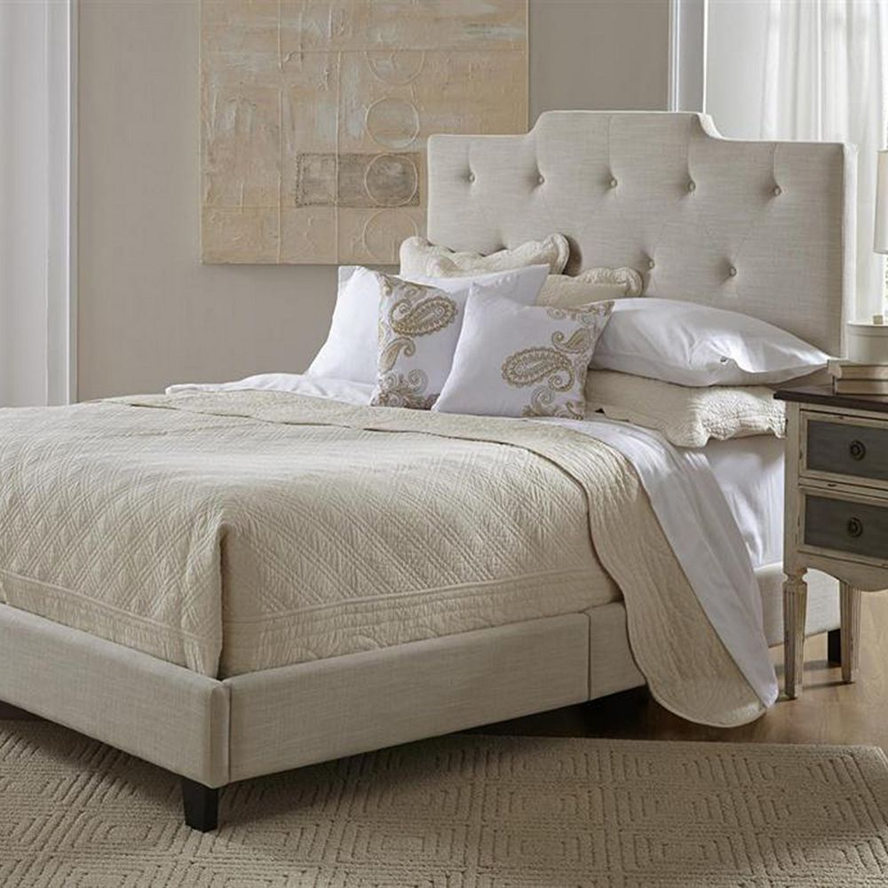 Best Button Tufted High Back Queen Platform Bed Bedroom 640 x 480