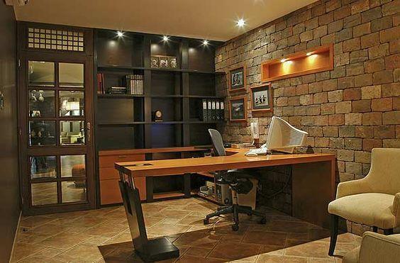 Elegantes Escritorios De Oficina Modernos.Oficina Rustica Y Elegante Karim Chaman Fotos De Oficinas