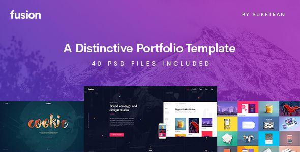 Fusion - A Distinctive Portfolio Template PSD Templates / Creative / Portfolio by suketran