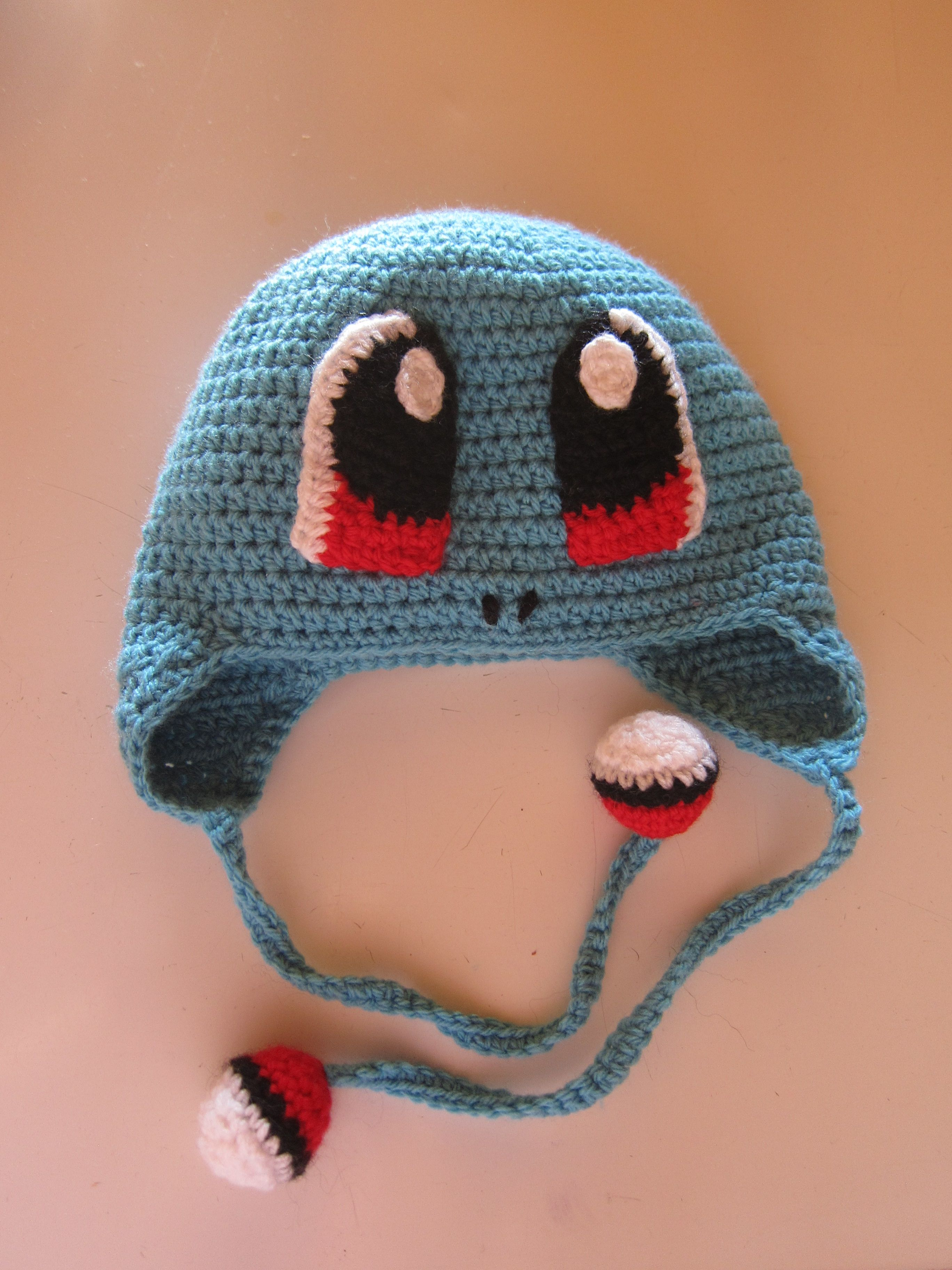 Crocheted  Squirtle  Hat 89fb0fd358a