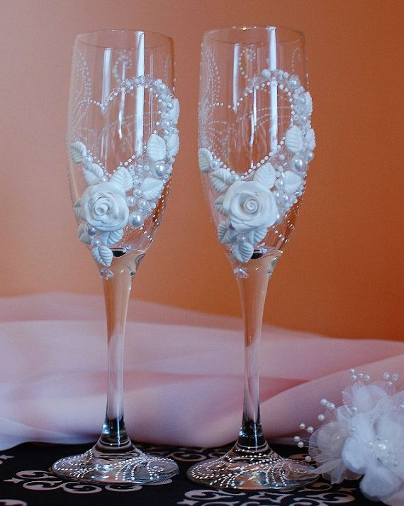 Personalized Wedding Champagne Gles Handmade Toasting Flutes Bridal Shower In Home Garden Supplies Glware