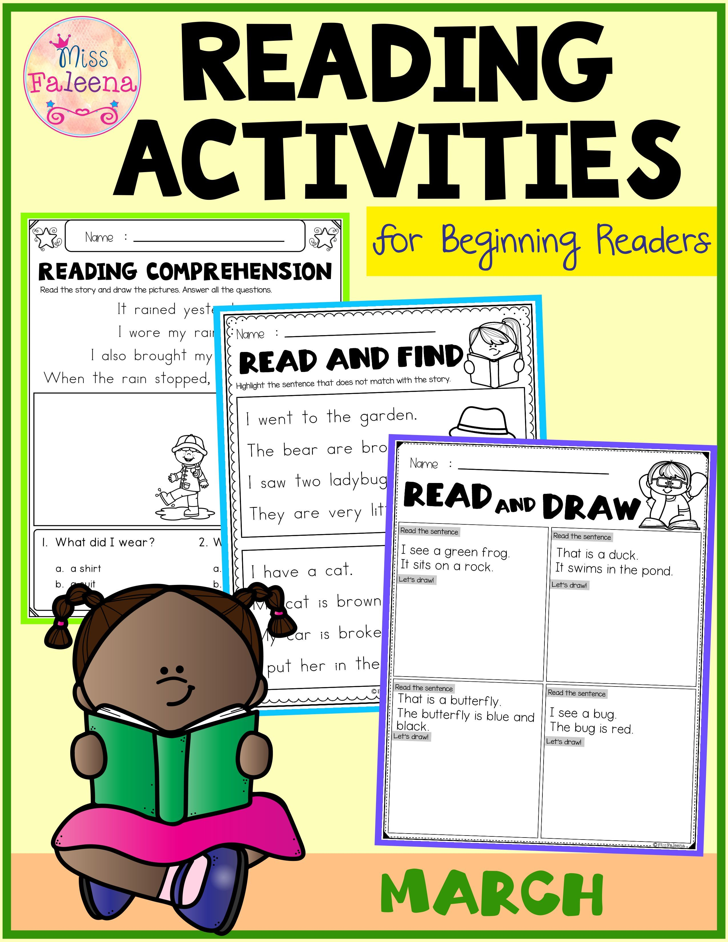 March Reading Activities For Beginning Readers