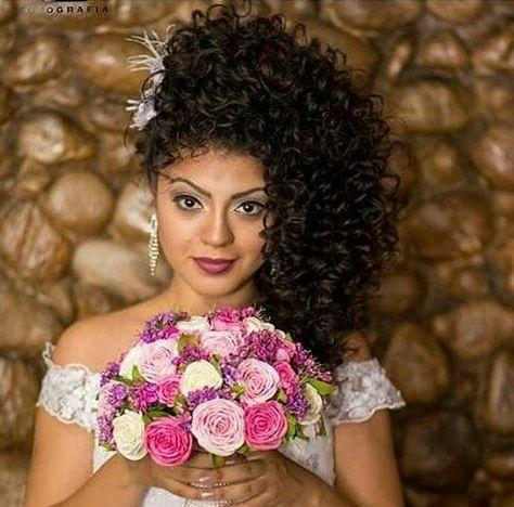 Noiva Cacheada Cachos Casamento Black Diadenoiva