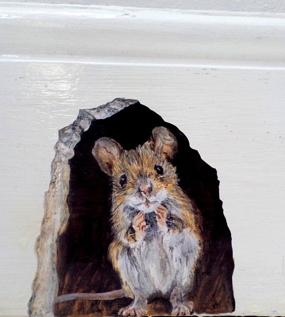 Wall Sticker Mouse Hole Mouse Hole Wall Decal College Dorm Decor Kitchen Decor Trompe L Oeil Mouse Hole Woodland Wall Decals Mousehole Woodland Wall Decals Mouse Hole Mouse Wall