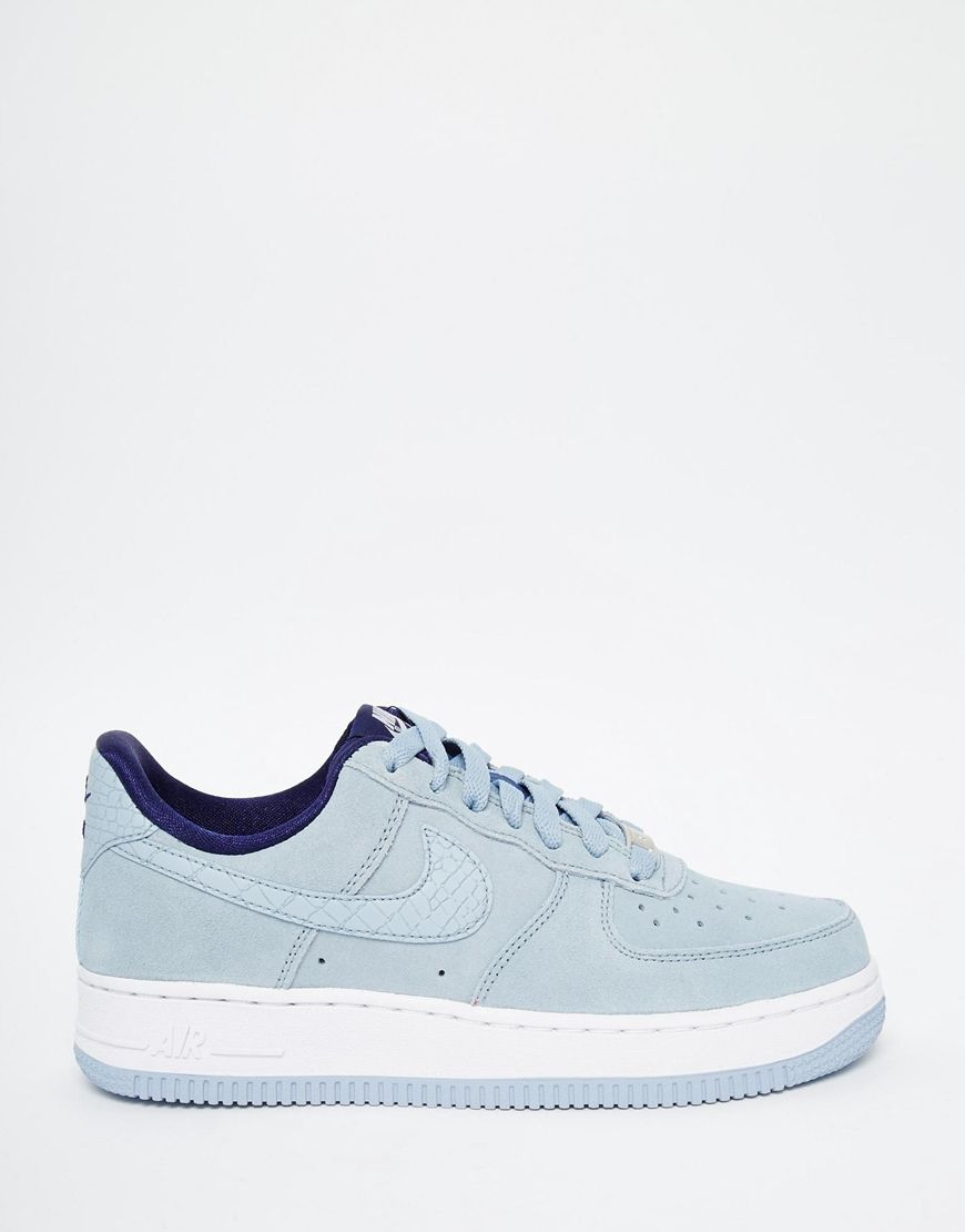 nike air force 1'07 light grey suede handbag