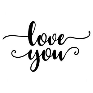 Download Love you | Silhouette design, Lettering, Silhouette