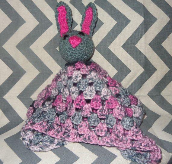 Bunny Rabbit Blanket Rattle by GypsySoulsCrafts on Etsy