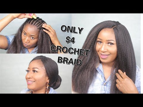 INVISIBLE PART CROCHET BRAID ONLY $4 XPRESSION   HOW TO