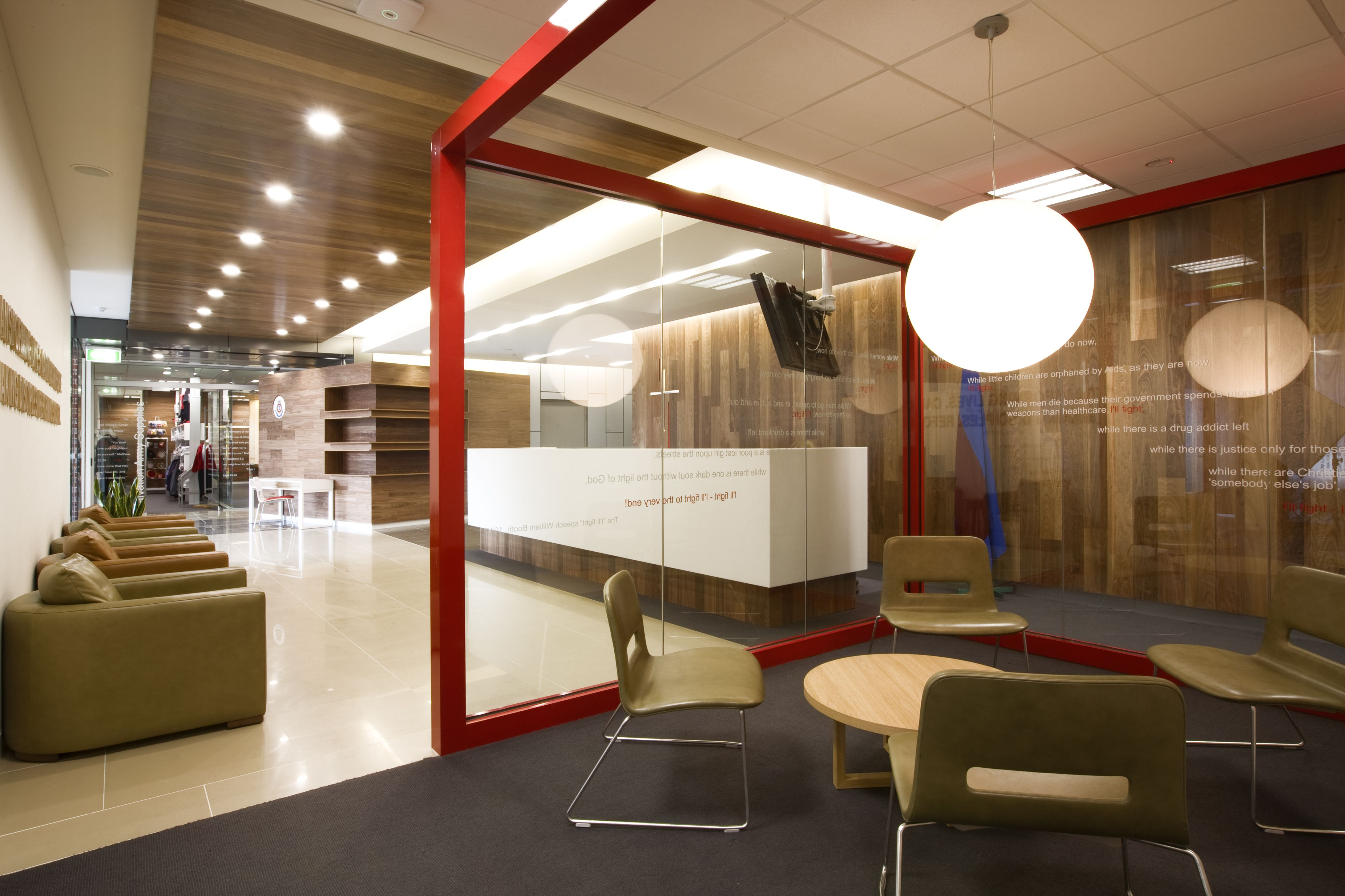 Reception, Waiting area and Meeting room by Artillery Interior  Architecture, Melbourne.
