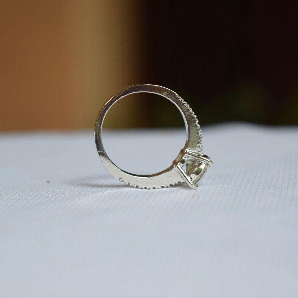 2 Carat Engagement Ringwhite Sapphire Engagement Ring White Gold Diamond  Engagement Ringoval Engagement Ring