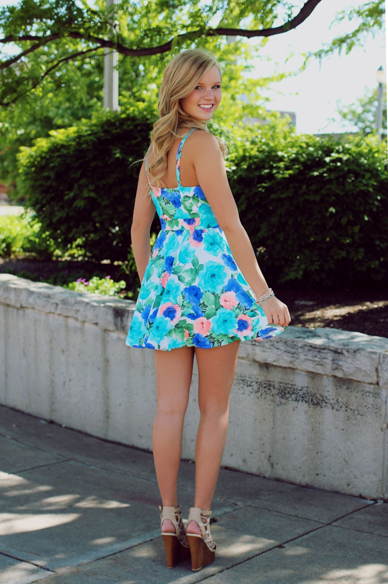 Floral Fit and Flare Dress | UOIOnline.com: Women's Clothing Boutique