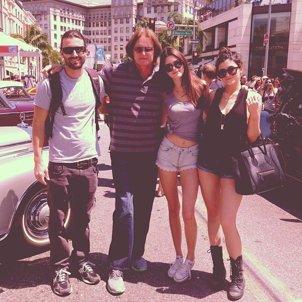The Jenner Clan; Brandon, Bruce, Kendall and Kylie Jenner behind the scenes of Keeping Up With The Kardashians. #KUWTK
