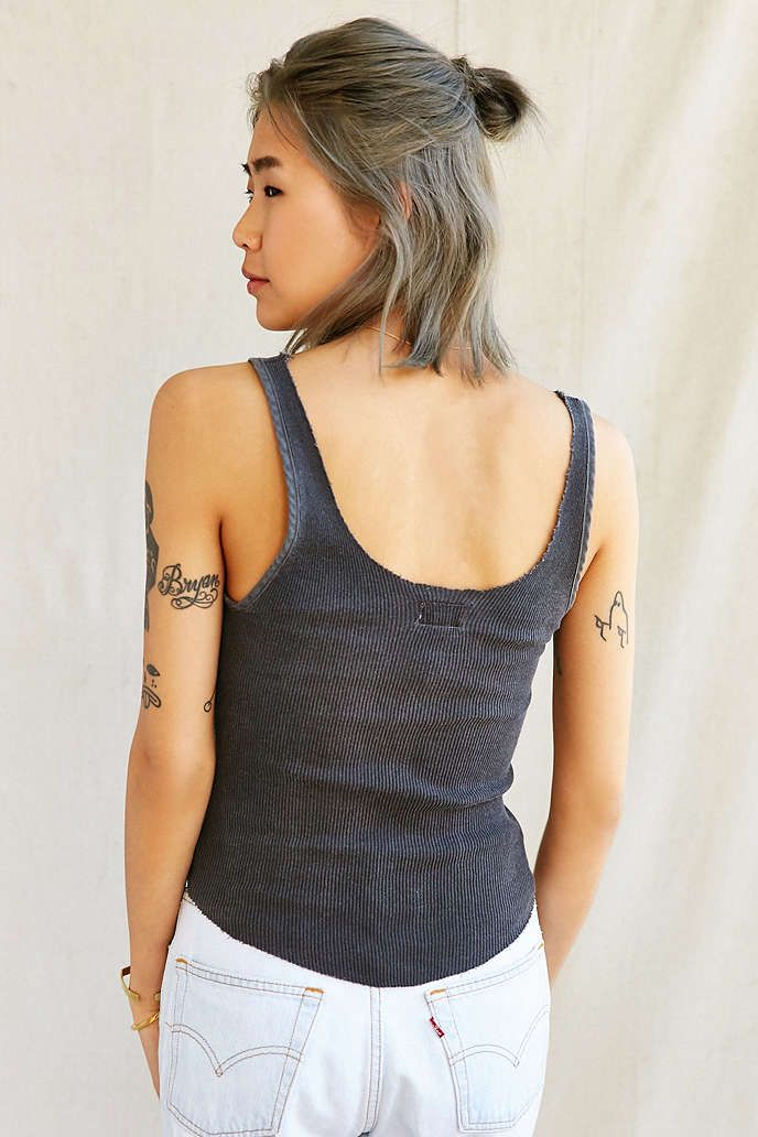 Urban Renewal Recycled Trimmed Tank Top - Urban Outfitters
