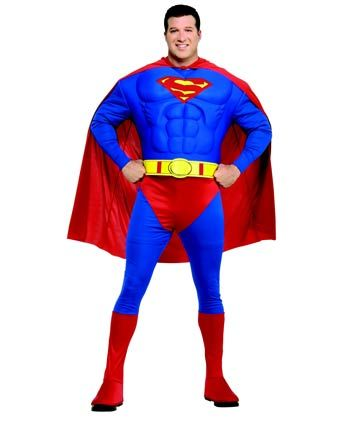 Muscle Chest Superman Plus Size Costume My nerdy collection
