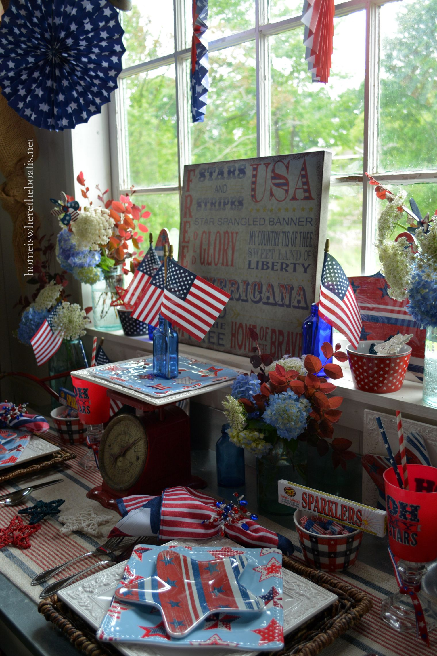 Celebrating The Red, White And Blue And Patriotic Celebration -
