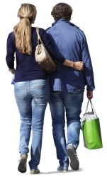Cutout Couple Walking 0034 available for download in XL size