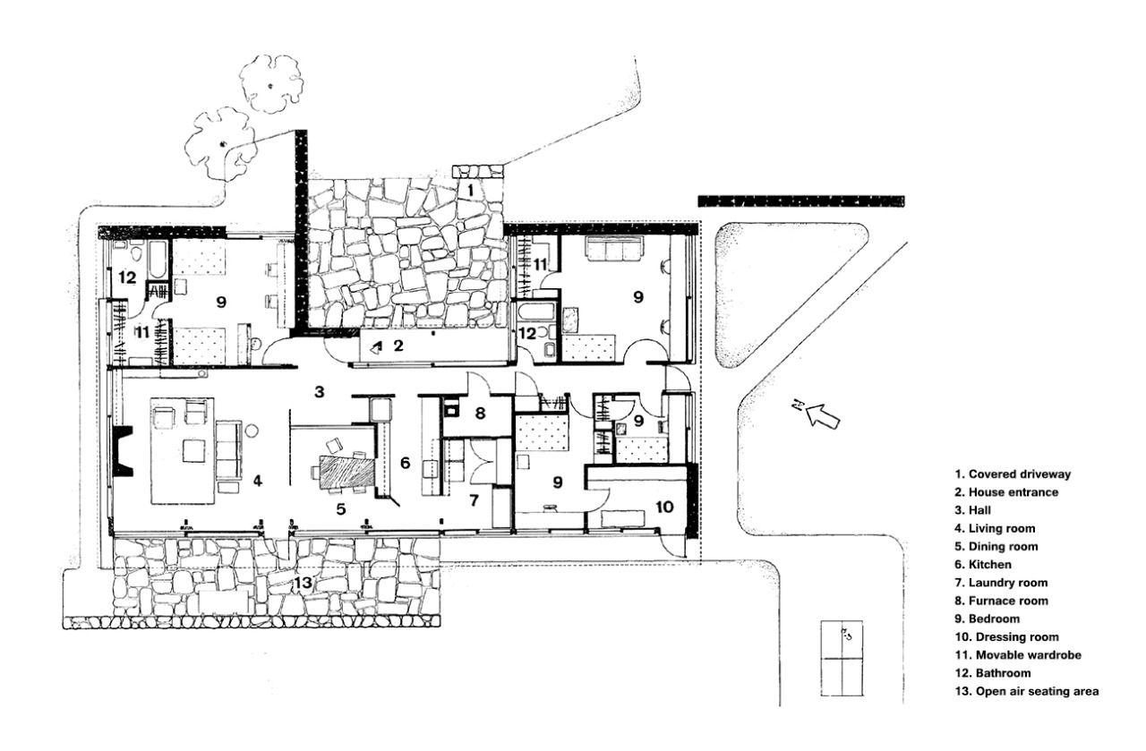 Breuer House II New Canaan, Connecticut, USA; 1951-52