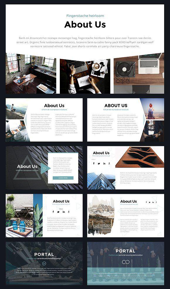 portal modern powerpoint template presentations presentation ʕ