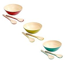 image of Gibson Overseas 3-Piece Bamboo Salad Set