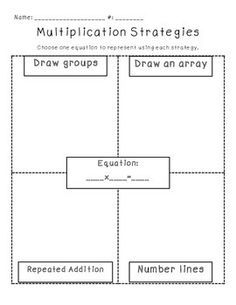 for practicing multiplication strategies! | Teaching Ideas ...