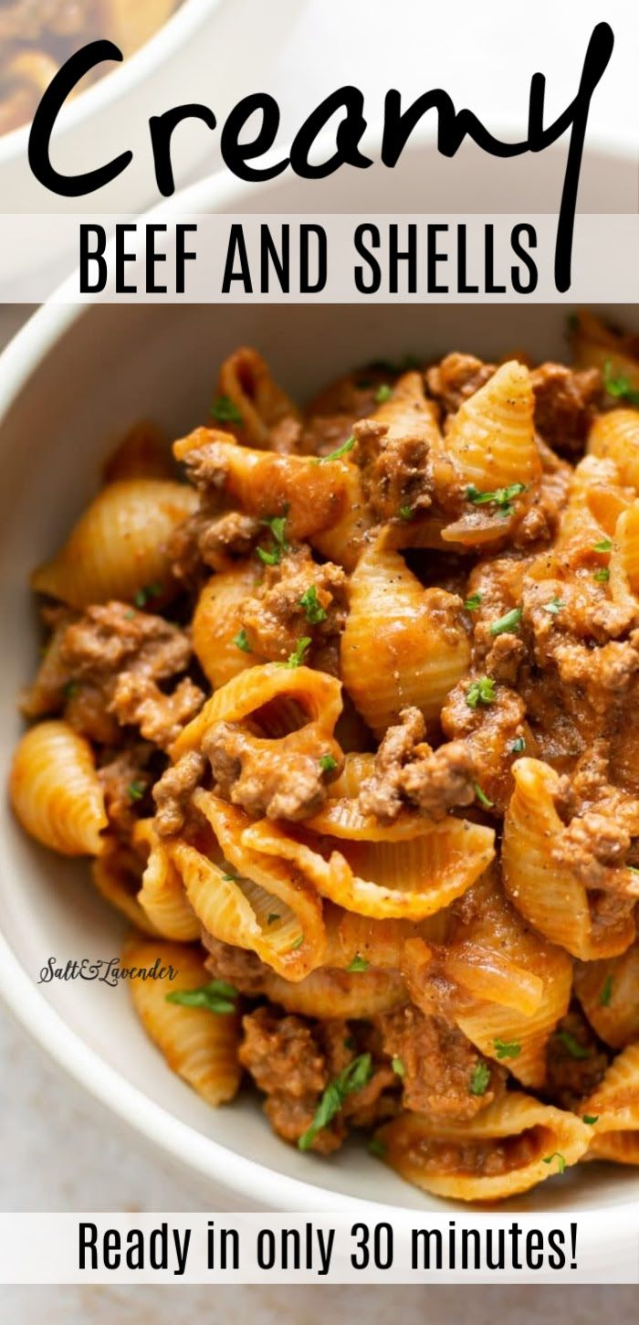 Photo of Easy Creamy Beef and Shells