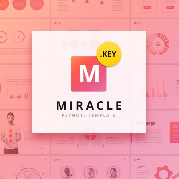 Miracle Modern Keynote Template  Design Design Modern And