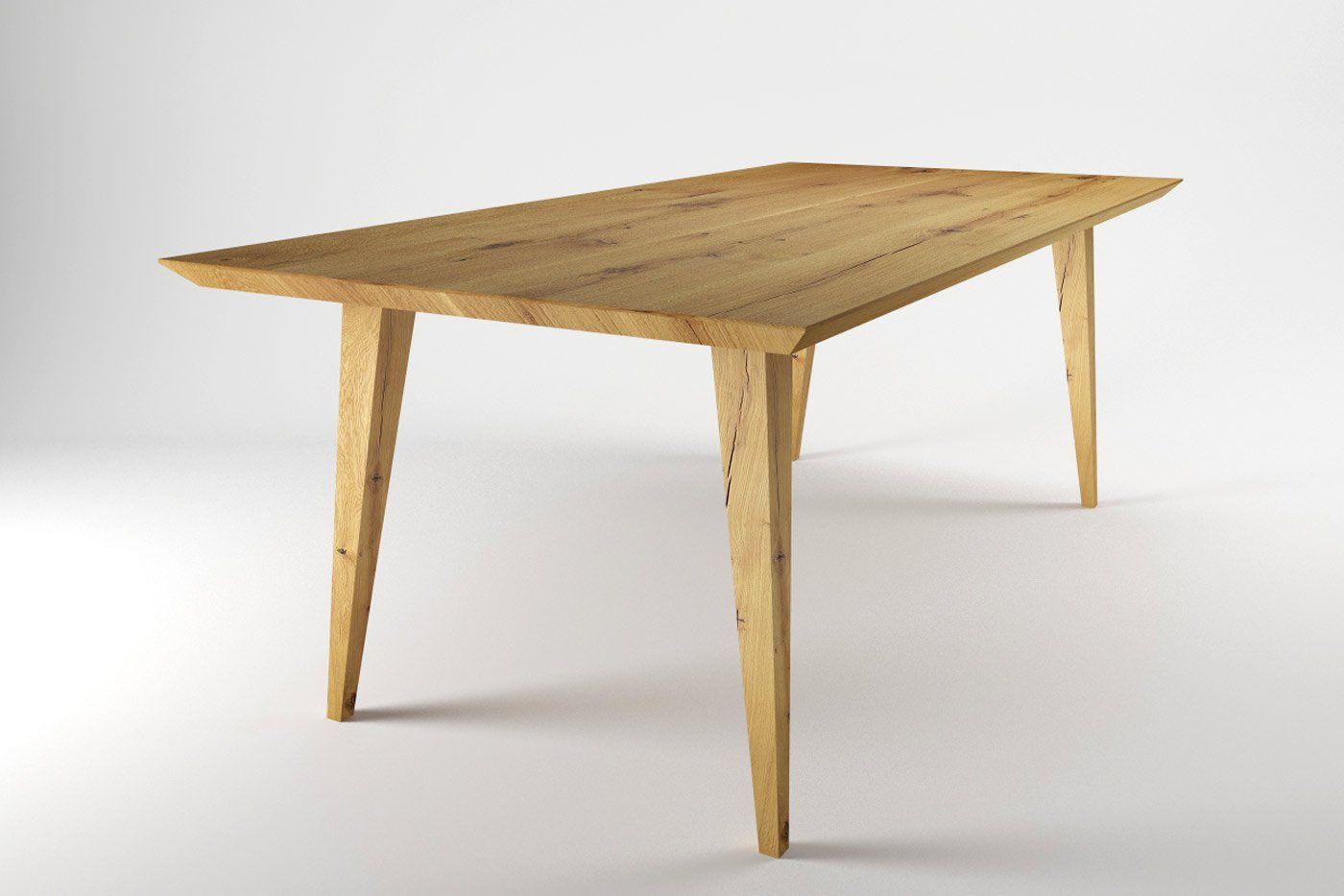 Holz Esstisch Eiche Auf Mass Wohnsektion Tischbeine Holz Tischbeine Massiv Tisch