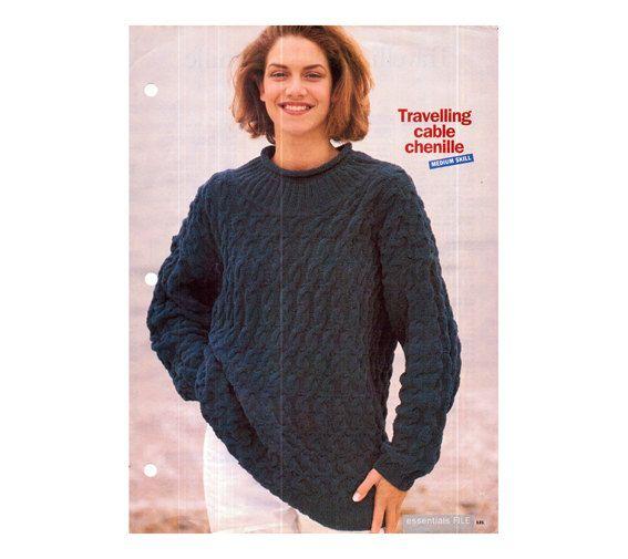 475a4d4cc1d Genuine Vintage Essentials Ladies Unusual Travelling Cable Chenille ...