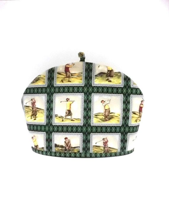 VINTAGE GOLF Tea Cozy Dome Shape Standard 6 to by TeaCozyCupboard