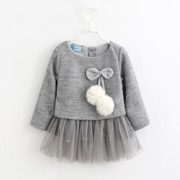 Kehen Infant Baby Toddler Girl Spring Dress Long Sleeve Plaids Checked Party Princess Floral Dresses Tutu